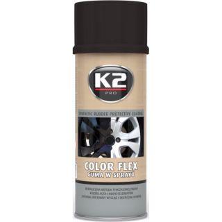 K2 Color flex, Sprühfolie, Sprühgummi, schwarz, glänzend, 400ml