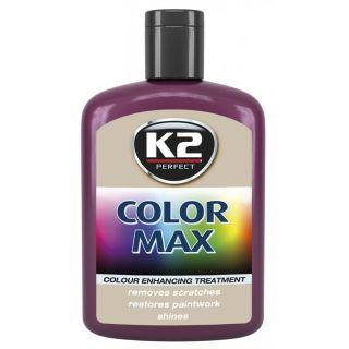 K2 Color max Farbwachs mit Carnauba Weinrot 200ml