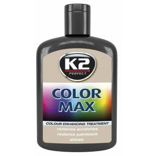 K2 Color max Farbwachs mit Carnauba Schwarz 200ml