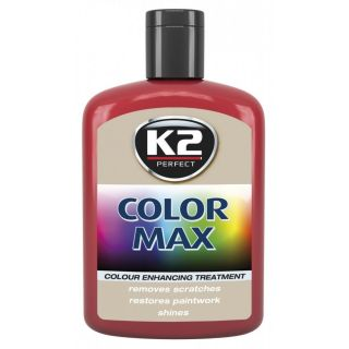 K2 Color max Farbwachs mit Carnauba Rot 200ml
