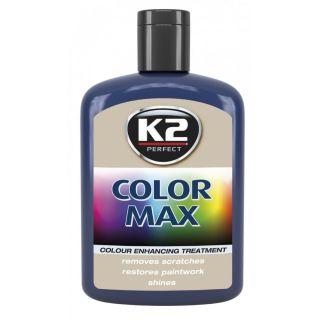 K2 Color max Farbwachs mit Carnauba Dunkelblau 200ml