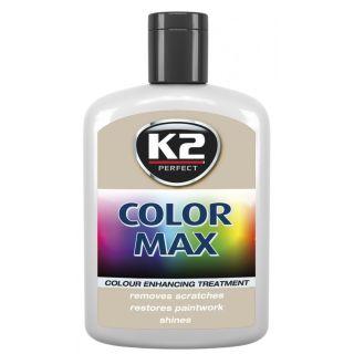 K2 Color max Farbwachs mit Carnauba Silber 200ml