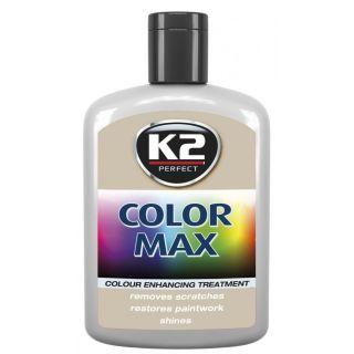 K2 Color max Farbwachs mit Carnauba Grau 200ml